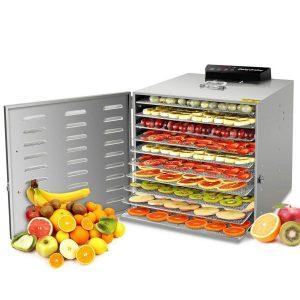 Deshidratador de alimentos con secado horizontal