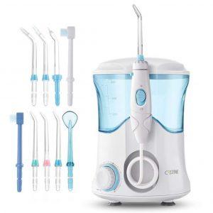 Irrigador dental con botón de pausa
