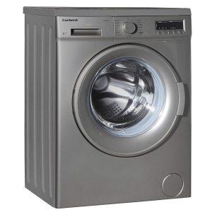 Lavadora secadora plateada
