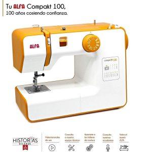 Máquina de coser portátil compacta