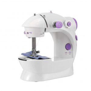 Máquina de coser portátil con dos velocidades